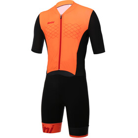 Santini Redux Overall Herrer orange/sort